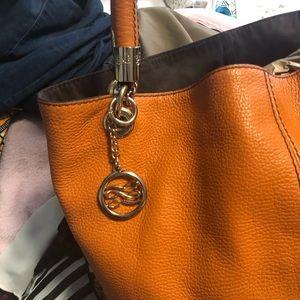 49ffda0ca5f6 lancel Bags - Lancel flore grained leather (orange)